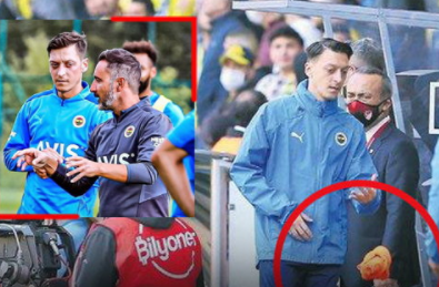 Ozil threw a bib in front of the manager after not being sent on the pitch